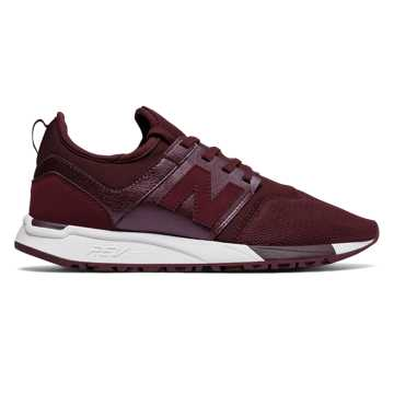 New Balance 247 Classic, Chocolate Cherry with White