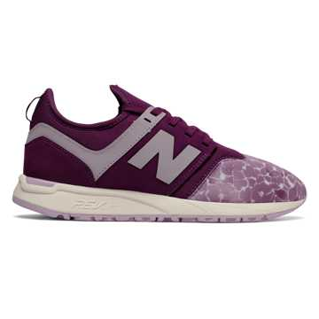 New Balance 247 Winter Shimmer, Dark Mulberry with Faded Rose