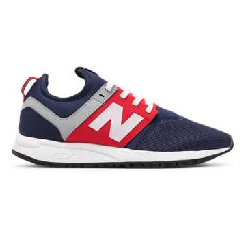 New Balance NB x J.Crew 247, Blue with Red & White