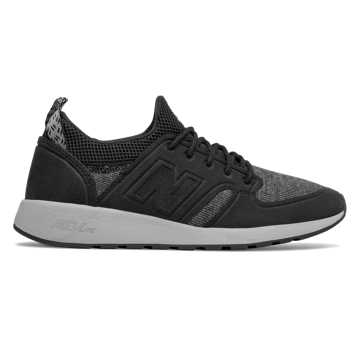 New Balance 420 Slip-On, Black with Gunmetal