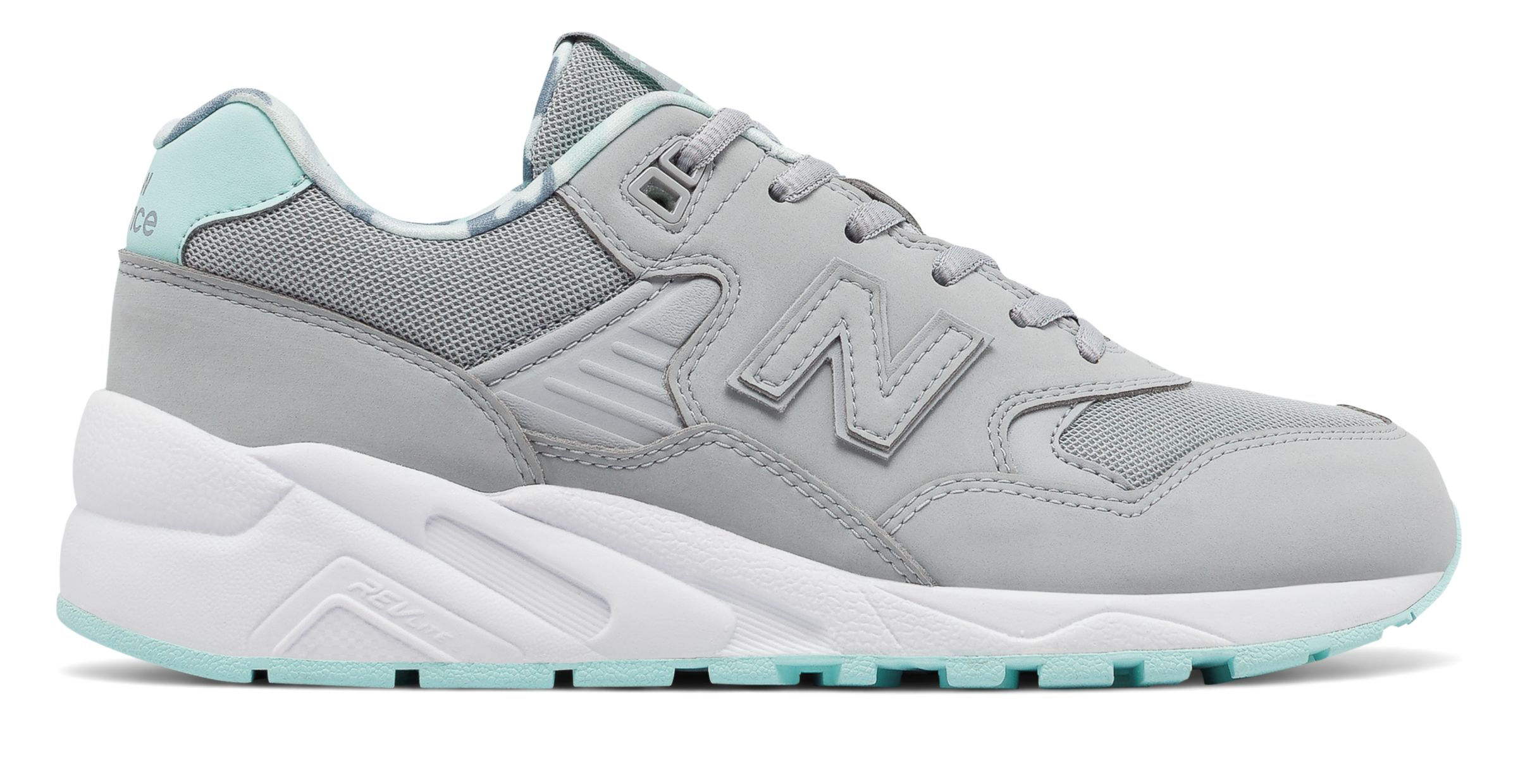 NB 580 New Balance, Silver Mink with Ozone Blue