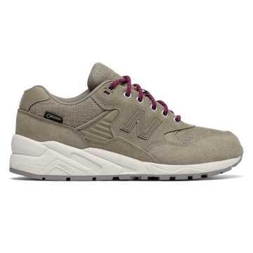New Balance 580复古鞋 女款 轻量舒适 街头主义, 灰色