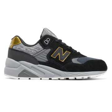 New Balance 580 Molten Metal, Black with Gold