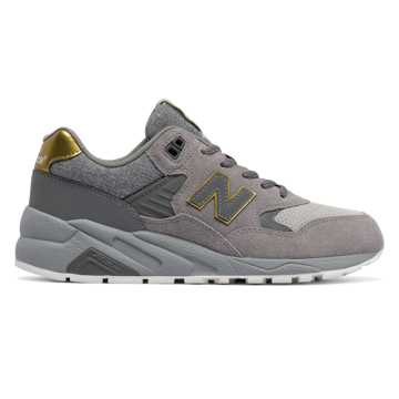 New Balance 580 Molten Metal, Grey with Gold