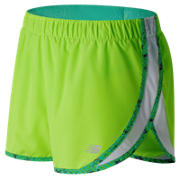 NB Accelerate 2.5 Inch Short, Lime Glo