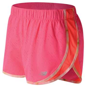 New Balance Accelerate 2.5 Inch Printed Short, Alpha Pink