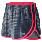 NB Accelerate 2.5 Inch Printed Short, Black with Accelerate Stripe