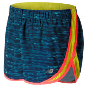 New Balance Accelerate 2.5 Inch Printed Short, Castaway Multi with Firefly