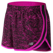 New Balance Accelerate 2.5 Inch Printed Short, Poisonberry Crinkle Texture