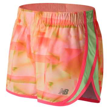 New Balance Accelerate 2.5 Inch Printed Short, Sunrise