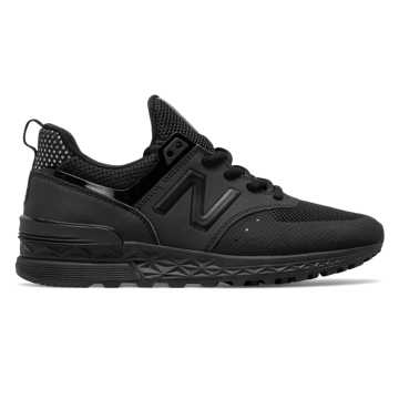 New Balance 574 Sport, Black with Gold