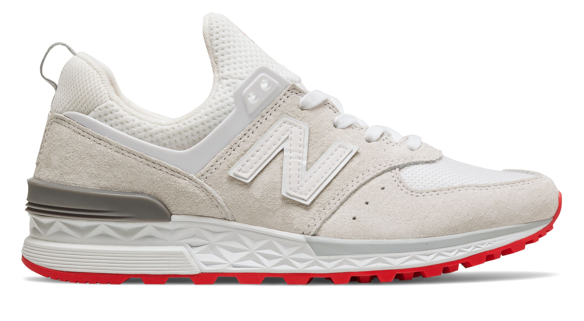 NB 574 Sport, Sea Salt with Tan