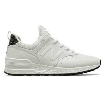 New Balance 574 Sport, White with Black