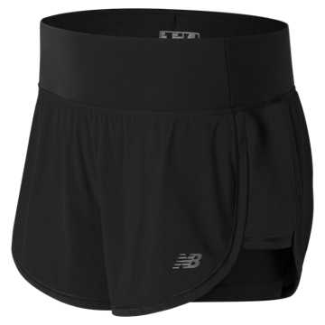 New Balance Impact 4 Inch 2 in 1 Short, Black