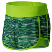 New Balance Impact 4 Inch 2 in 1 Short, Tornado with Lime Glo & White