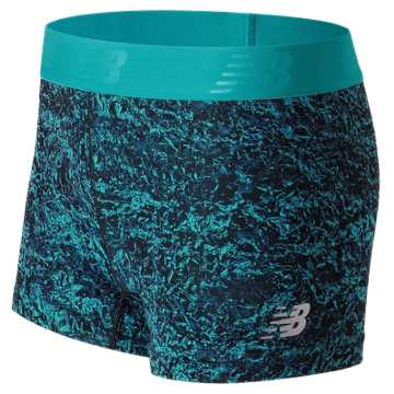 New Balance Accelerate Printed Hot Short, Pisces Crinkle Texture