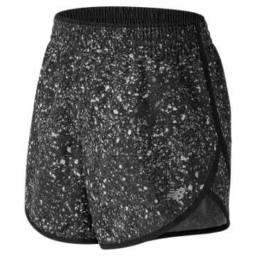 New Balance Accelerate 5 Inch Printed Short, Black Crystallized