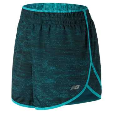 New Balance Accelerate 5 Inch Printed Short, Pisces Heat Waves