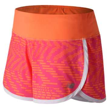 New Balance Impact 3 Inch Printed Short, Speed Glitch with Alpha Pink
