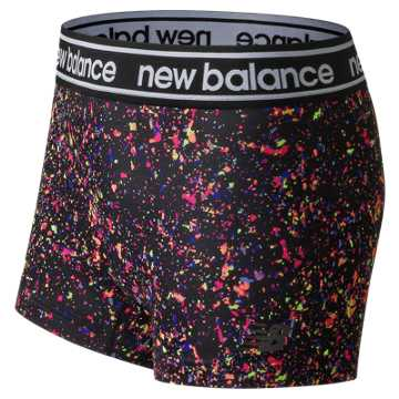 New Balance Printed Accelerate Hotshort, Black Multi