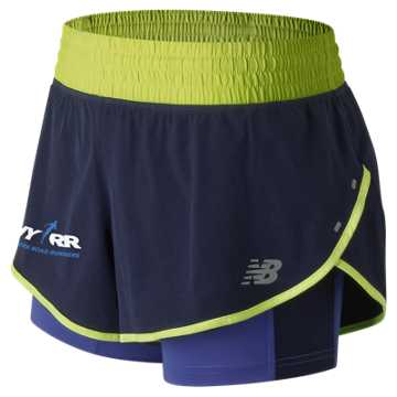 New Balance Run 4 Life 4 Inch Impact Short, Blue Iris