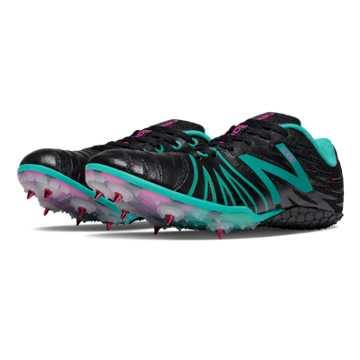 New Balance SD100 Spike, Black with Teal