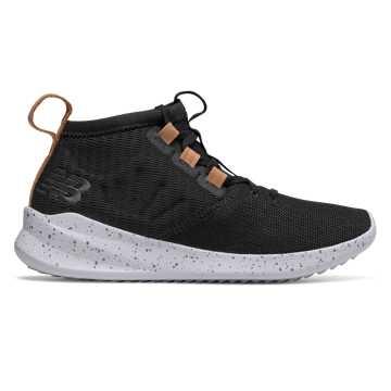 New Balance Cypher Run Knit, Black with Vegan Tan Leather