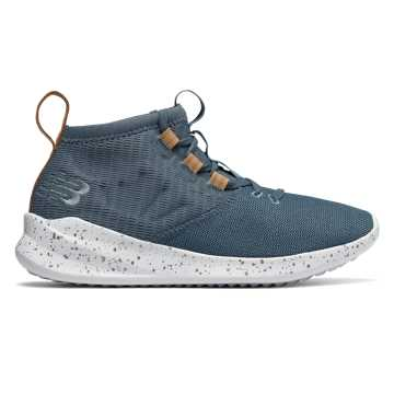 New Balance Cypher Run Knit, Light Petrol with Vegan Tan Leather