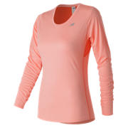 New Balance Accelerate Long Sleeve, Bleached Sunrise