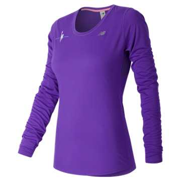 New Balance NYC Marathon Training LS Tee, Alpha Violet