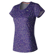 NB Accelerate Short Sleeve Graphic, Black Plum