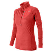 NB Performance Merino Half Zip, Cerise Heather