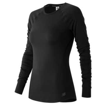 New Balance Trinamic Long Sleeve Top, Black
