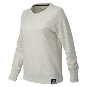 New Balance Essentials Plus Solid Crewneck, Sea Salt Heather
