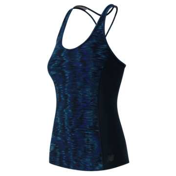 New Balance Galaxy Tech Racerback Bra Top, Galaxy