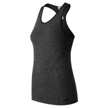 New Balance M4M Seamless Tank, Black Heather