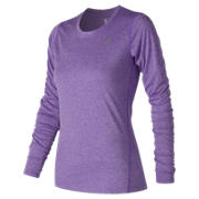 NB Heathered Long Sleeve, Alpha Violet Heather