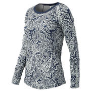 NB J.Crew Printed In Transit Top, Navy with Silver Paisley