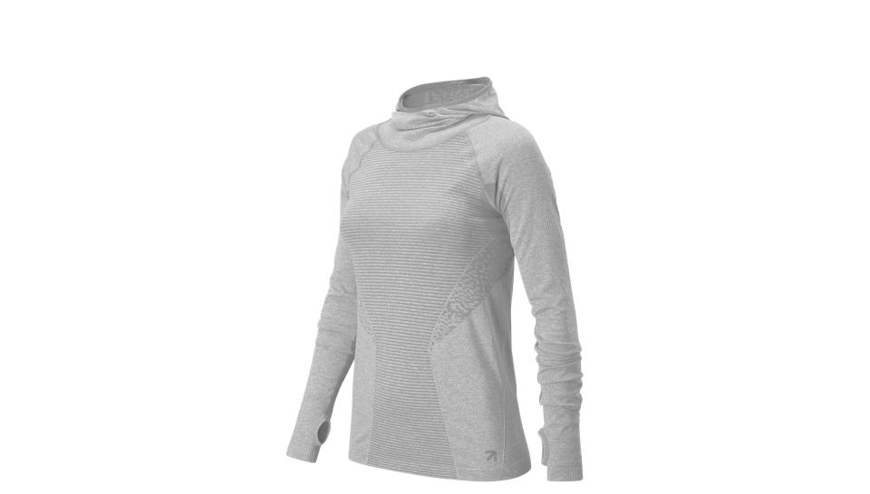 New Balance Hooded Pullover Shirt- Women