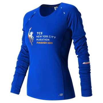 New Balance NYC Marathon Finisher NB Ice Long Sleeve, Blue