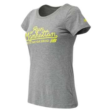 New Balance NYRR Manhattan SS Tee, Athletic Grey