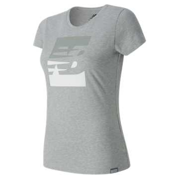 New Balance Split Sport Style Tee, Athletic Grey