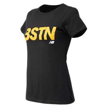 New Balance Boston City Tee, Black