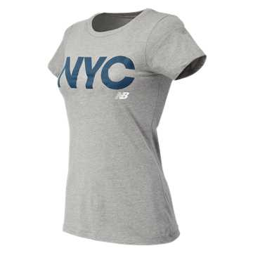 New Balance NYC City Tee, Athletic Grey