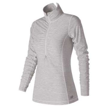 New Balance In Transit Half Zip, Sea Salt Heather