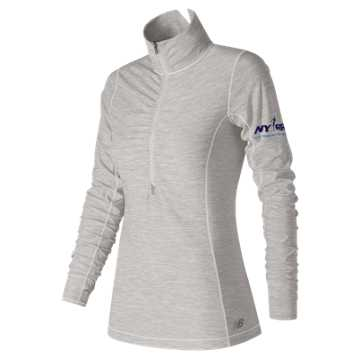 New Balance Run for Life In Transit Half Zip, Sea Salt Heather