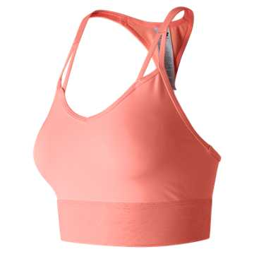 New Balance Grove Crop Bra Top, Bleached Sunrise