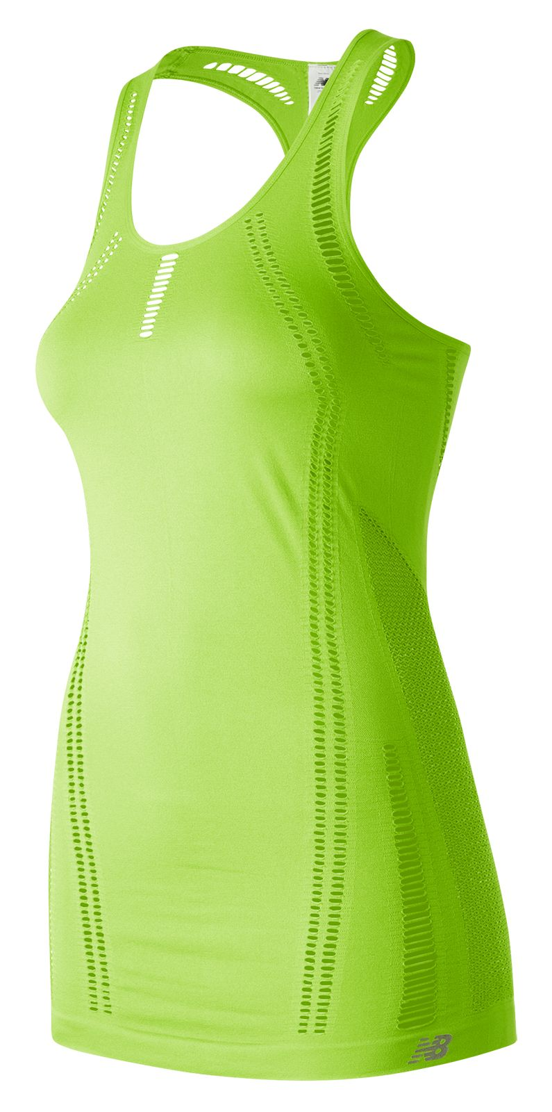 NB M4M Seamless Breathe Tank, Bleached Lime Glo