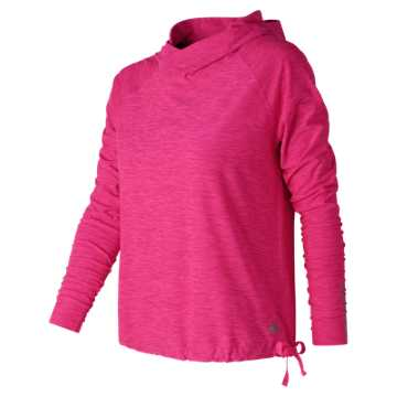 New Balance In Transit Hoodie, Alpha Pink Heather