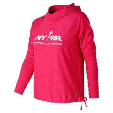 New Balance Run for Life In Transit Pullover, Alpha Pink Heather